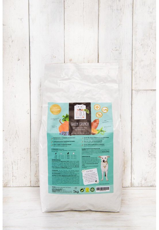 Green Crunch 5 kg - vegetable based dry pet food for dogs