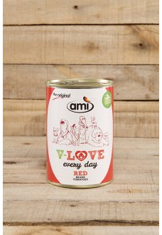 Ami Dog Love Every Day RED Beans-Tomatoes -  400 g vegetable based pet food for adult dogs
