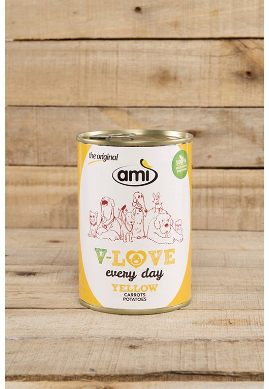 Ami Dog YELLOW carrots-potatoes 400 g - vegetable based...