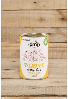 Ami Dog YELLOW carrots-potatoes 400 g - vegetable based pet food for adult dogs
